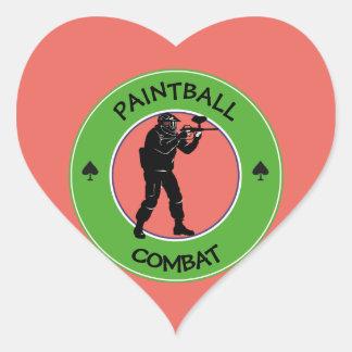 Paintball Combat Heart Sticker