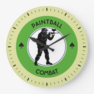 Paintball Combat Large Clock
