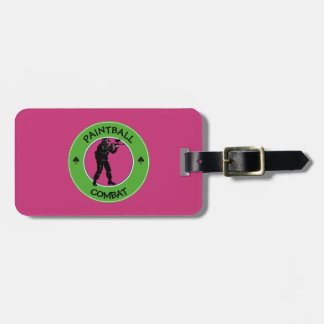 Paintball Combat Luggage Tag