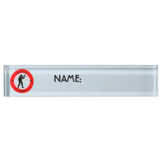 Paintball Combat Name Plate