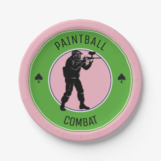 Paintball Combat Paper Plate