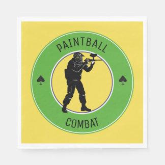 Paintball Combat Paper Serviettes