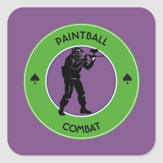 Paintball Combat Square Sticker