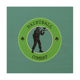 Paintball Combat Wood Wall Decor