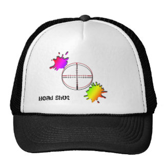 paintball Head Shot Mesh Hat