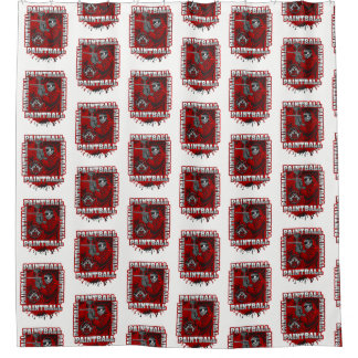 Paintball Player Red Team Colors Shower Curtain