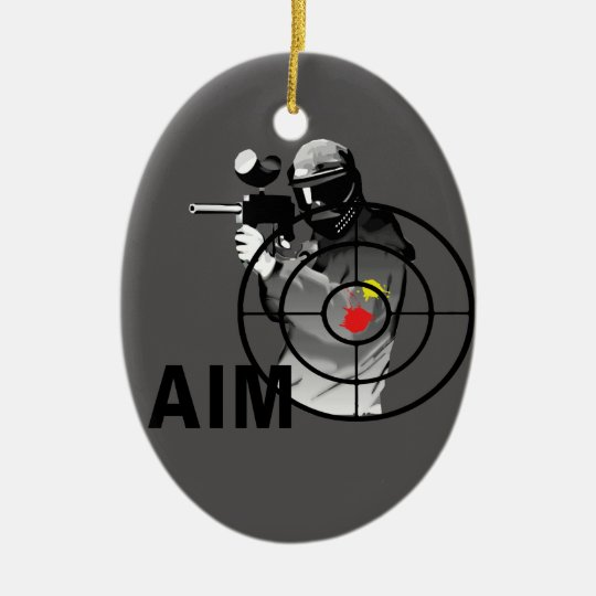 Paintball Shooter - Aim Ceramic Ornament