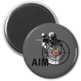 Paintball Shooter - Aim Refrigerator Magnets