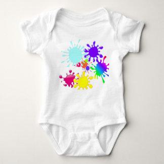 Paintball Splats Baby Bodysuit