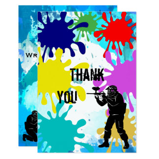 "Paintball ""Thank You"" Card"