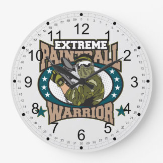 Paintball Warrior Large Clock