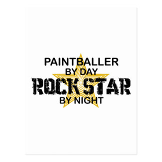 Paintballer Rock Star by Night Postcard