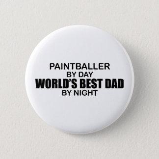 Paintballer - World's Best Dad by Night 6 Cm Round Badge