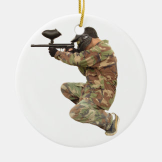 Paintballing Ceramic Ornament