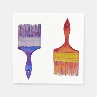 paintbrush image table napkins disposable napkins