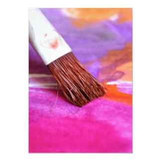 Paintbrush 5x7 Paper Invitation Card
