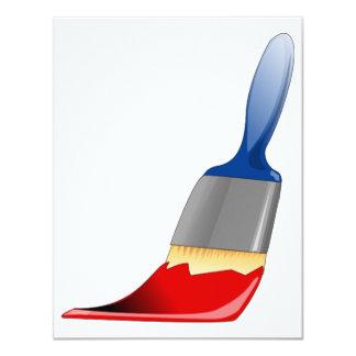 "Paintbrush Invitations 4.25"" X 5.5"" Invitation Card"