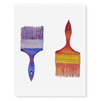 paintbrush temporary tattoo
