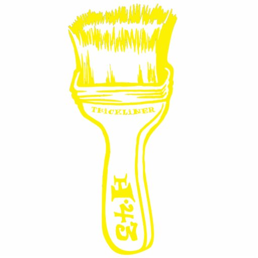 Paintbrush - Yellow Cut Out