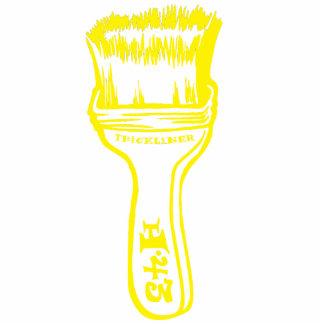 Paintbrush - Yellow Standing Photo Sculpture