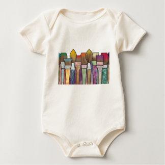 Paintbrushes Baby Bodysuit