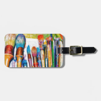Paintbrushes in Color Luggage Tag
