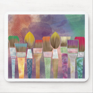 Paintbrushes Mouse Pad