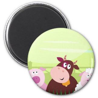 Painted amazing Animals : Creative t-shirts 6 Cm Round Magnet