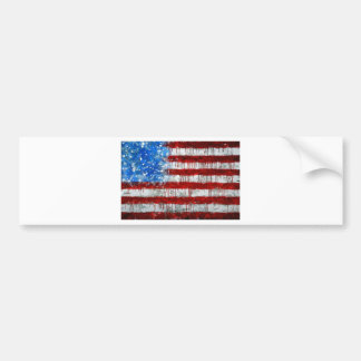 Painted American Flag Bumper Sticker