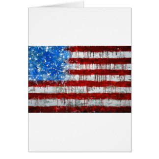 Painted American Flag Greeting Cards