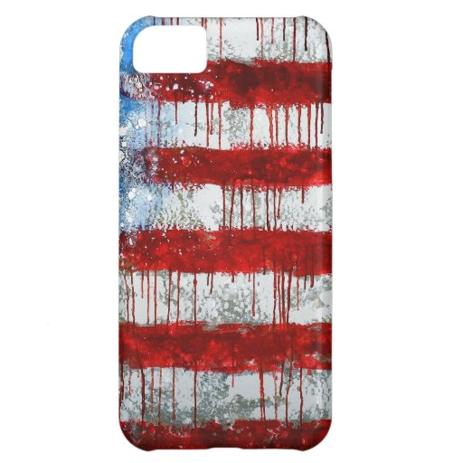 Painted American Flag iPhone 5C Case