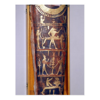 Painted and gilded mummy case of Artemidorus Postcard
