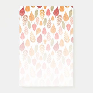 Painted Autumn Leaves Pattern Post-it Notes