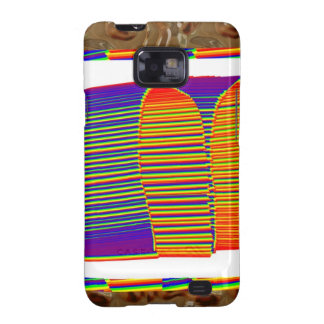 Painted Bamboo Straw Mat HUT Samsung Galaxy SII Cover