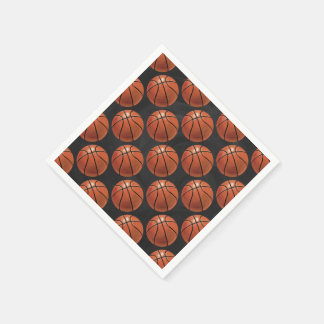 Painted Basketball Pattern Disposable Napkin
