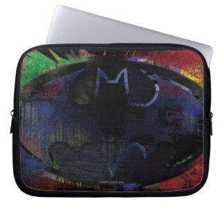 Painted Bat Symbol Laptop Computer Sleeve