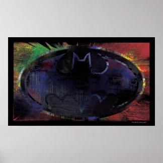 Painted Bat Symbol Posters