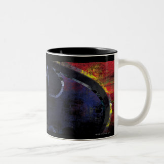 Painted Bat Symbol Two-Tone Coffee Mug