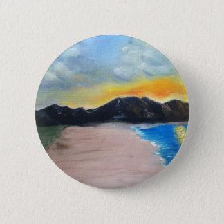 Painted Beach Scene 6 Cm Round Badge