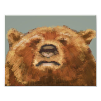 painted bear photo print