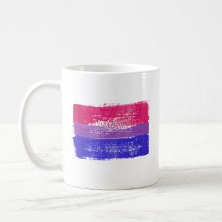 PAINTED BISEXUAL PRIDE FLAG - -  COFFEE MUG