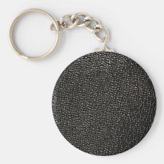 Painted black gems key chains