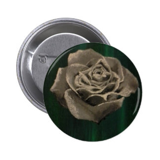 Painted Black & White Rose Pin