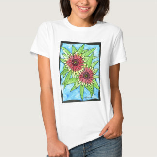 Painted Blanket Flowers T-shirt