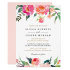 PAINTED BLOOMS Botanical Floral Wedding Invitation