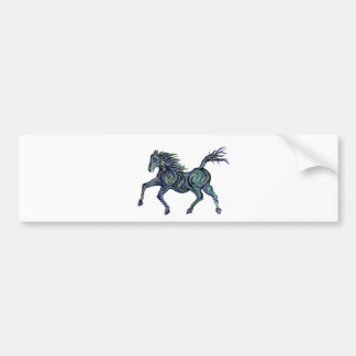 Painted Blue Horse Bumper Stickers