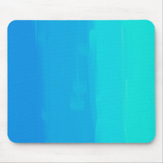 Painted Blue Mouse Pad
