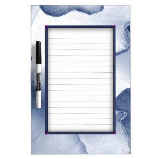 Painted Blue Petals Dry Erase Board