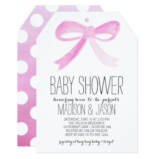 Painted Bow | Baby Shower Invitation