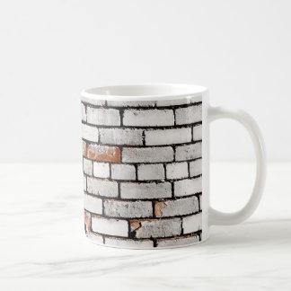 Painted Brick Basic White Mug